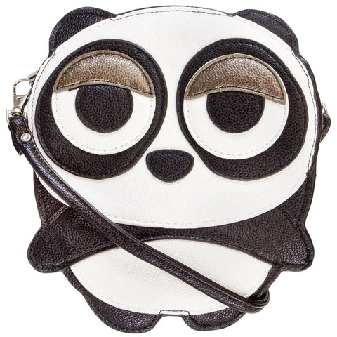 Sleepyville Panda Body Vinyl Cross Body Shoulder Bag