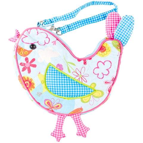Twirly the Bird Soft Plush Wristlet Bag