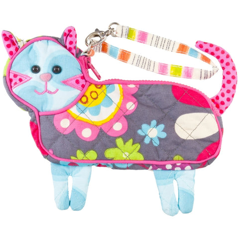 Fly Away the Cat Soft Plush Wristlet Bag