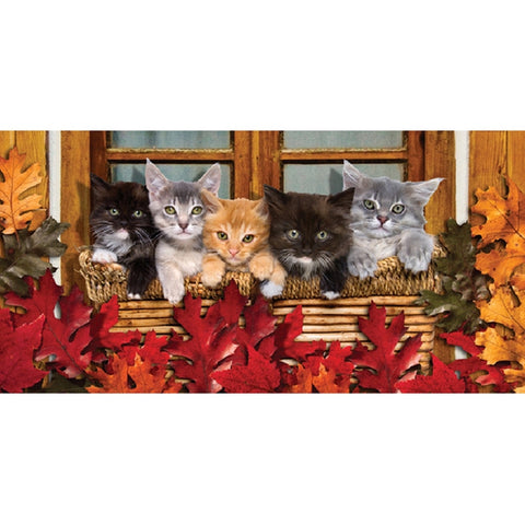 Cats Hanging in the Window Velour Beach Towel