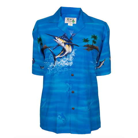 Swordfish Jumping Hawaiian Shirt