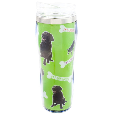Black Labrador Profile Travel Mug