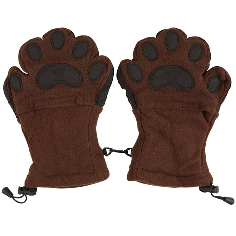 Bear Hands Brown Youth Mittens