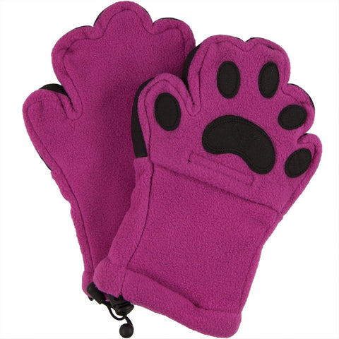 Bear Hands Pink Youth Mittens