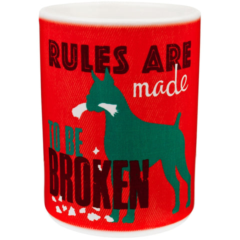 Dog Rules Are Made To Be Broken Coffee Mug