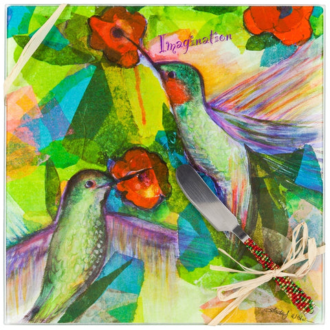 Hummingbirds Imagination Cheese Board