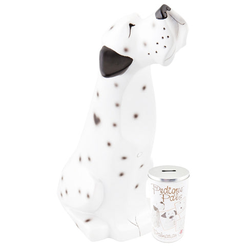Dalmatian Figurine With Money Tin Box