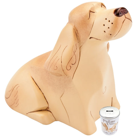 Cocker Spaniel Figurine With Money Box Tin
