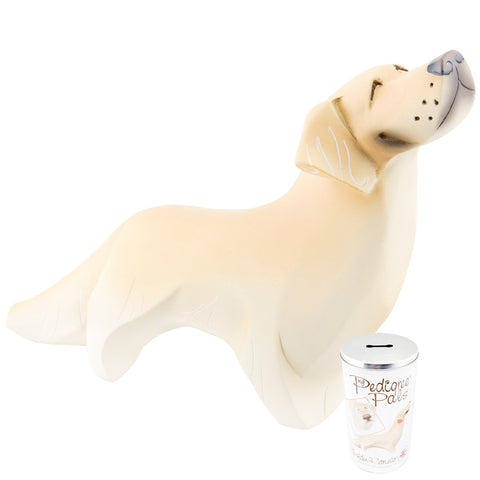 Golden Retriever Figurine With Money Box Tin