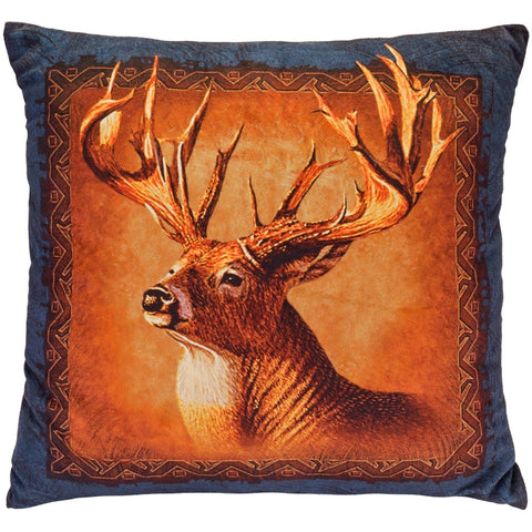 Deer Head Square Pillow
