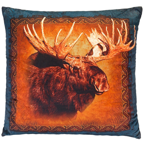 Moose Head Square Pillow