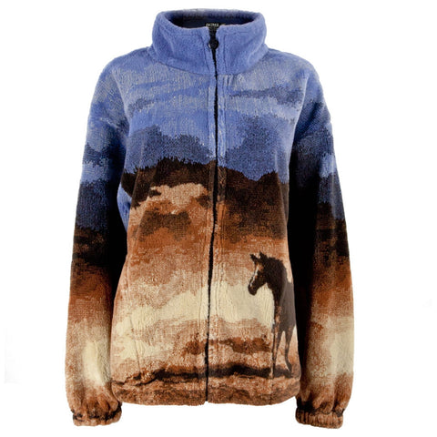 Trail End Horses Galloping Juniors Fleece Jacket