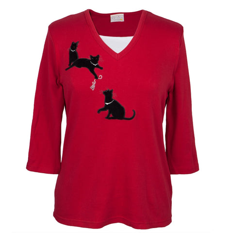 Cat Body Women's 3/4 Sleeve Shirt