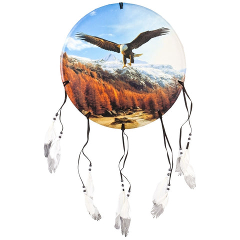 Eagle Soaring Above Mountains Dream Catcher