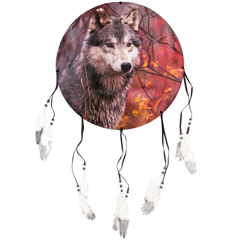 Wolf in Autumn Forest Dream Catcher
