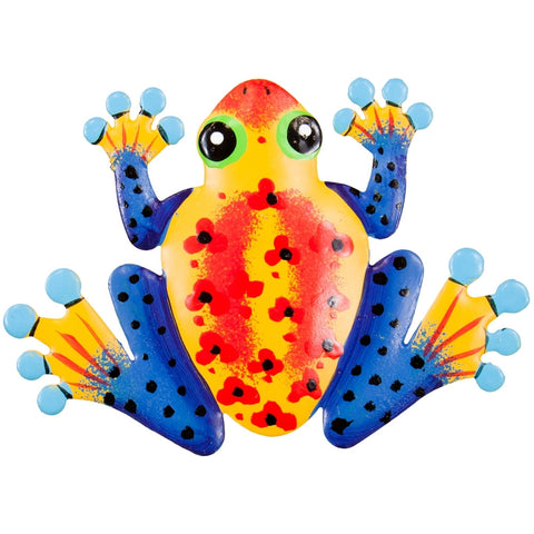 Orange Frog Body Bobble Metal Magnet