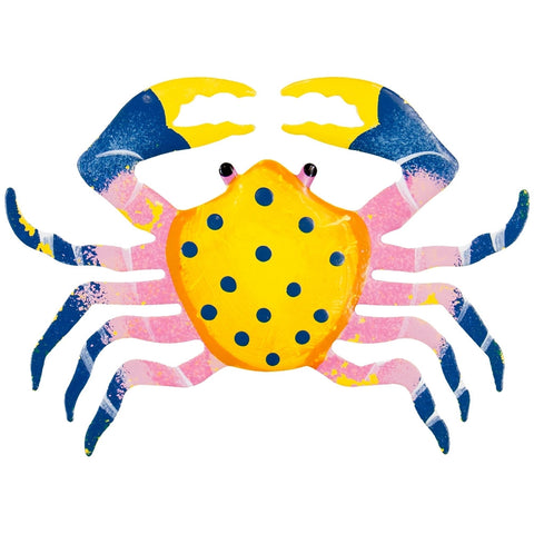 Yellow Crab Body Bobble Metal Magnet