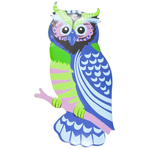 Blue Owl Body Bobble Metal Magnet