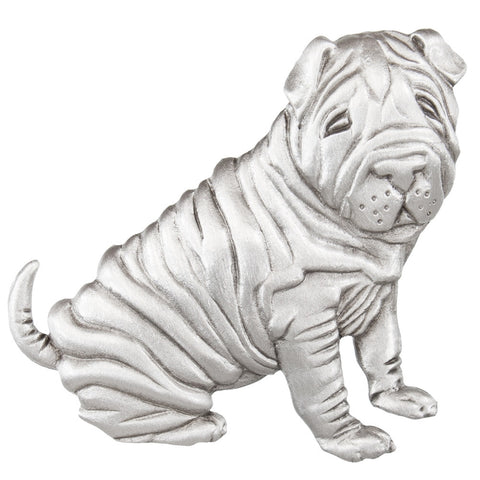 Shar Pei Pewter Pin
