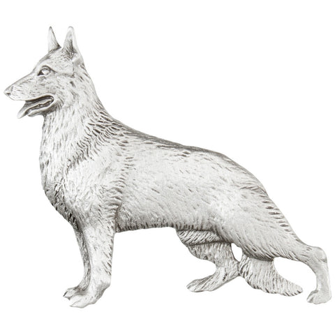 German Shepherd Standing Pewter Pin