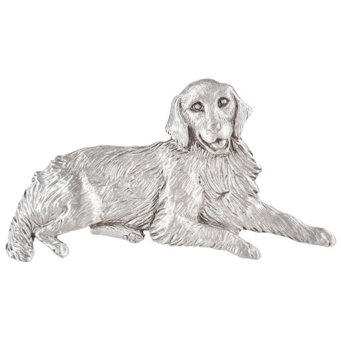Golden Retriever Laying Pewter Pin