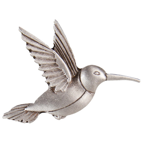 Hummingbird Body Pewter Clutch Pin