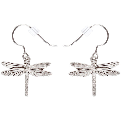 Dragonfly Body Pewter Fishhook Earrings