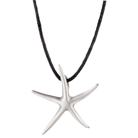 Starfish Body Pewter Necklace