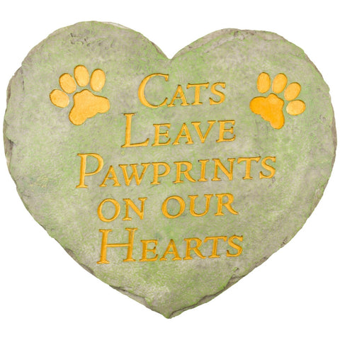 Cats Leave Paw Prints On Our Hearts Stepping Stone