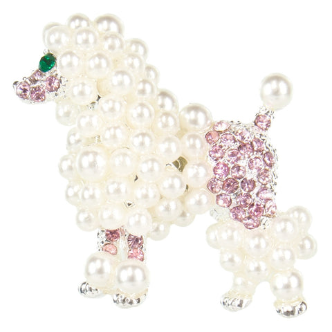 Poodle Pearled Body Brooch