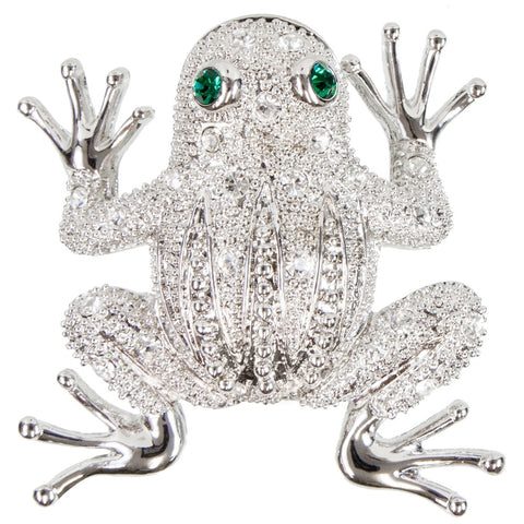 Frog Body With Gemmed Eyes Brooch