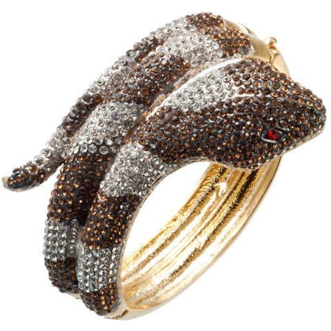 Cobra Snake Gemmed Body Bangle Bracelet