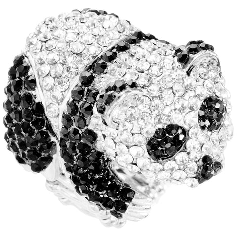Panda Gemmed Body Adjustable Ring