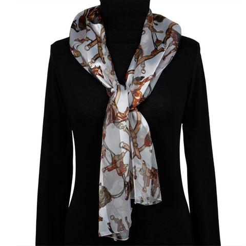 Horses & Saddles All-Over Women's Scarf