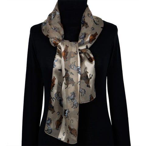 Horses & Horseshoes All-Over Women's Scarf