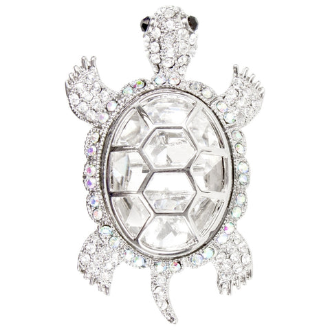 Turtle Gemmed Body Brooch