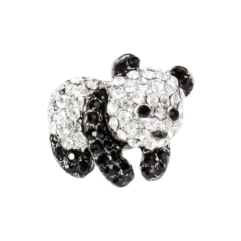 Panda Gemmed Body Brooch