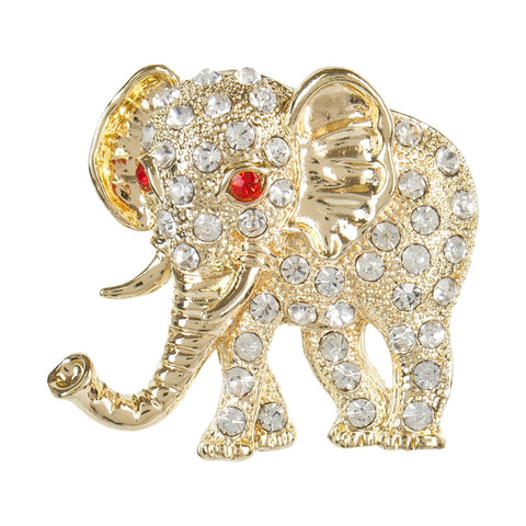 Elephant Gemmed Body Brooch