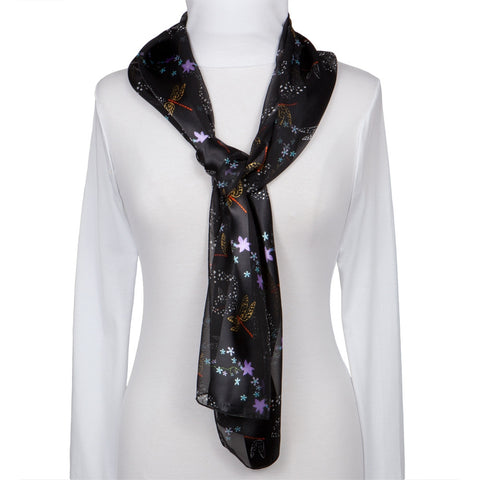 Dragonfly & Flowers All-Over Women's Scarf