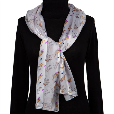 Cats & Their Favorite Things All-Over Women's Scarf