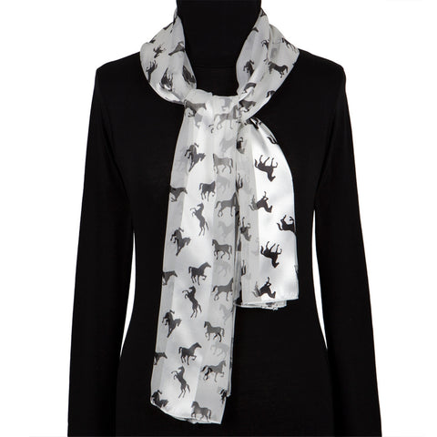 Horses In Action All-Over Women's Scarf