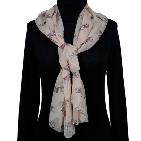 Zebra Standing All-Over Women's Scarf