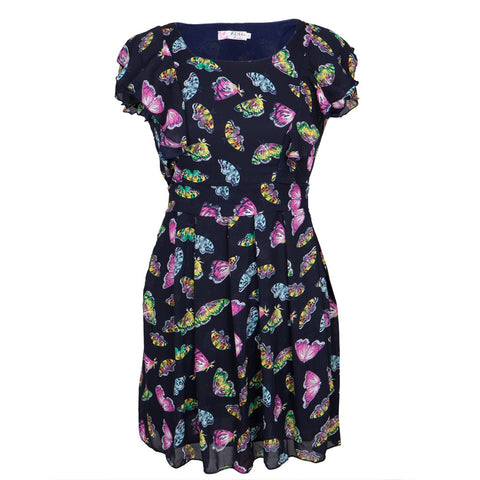 Butterflies Colorful All-Over Women's Dress