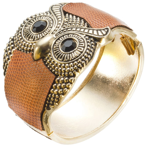 Owl Eyes Bangle Bracelet