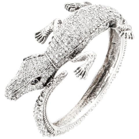 Alligator Gemmed Body Bracelet