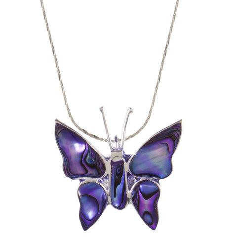Butterfly Body Mother of Pearl Necklace