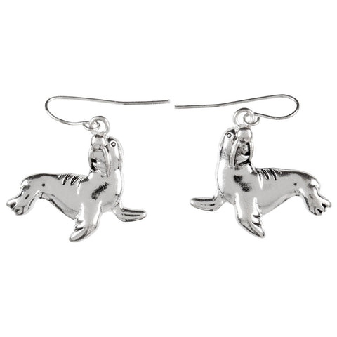 Walrus Standing Dangle Earrings