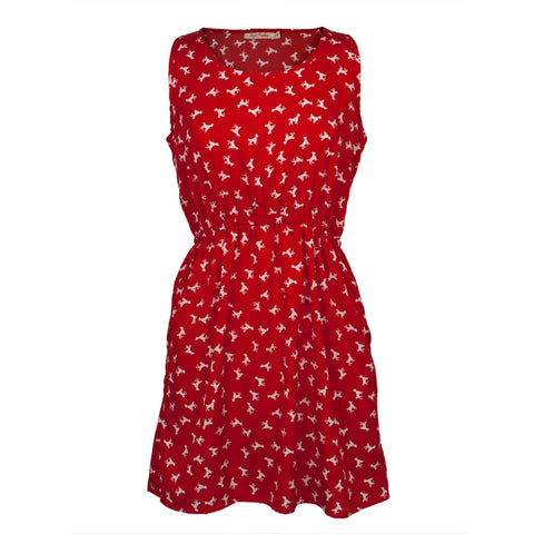 Poodles All-Over Women's Short Dress