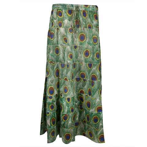 Peacock Feathers Women's Long Skirt