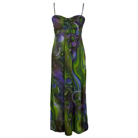 Peacock Feathers Women's Long Dress